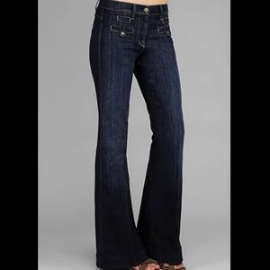 7 For All Mankind Savannah Welt flare jeans 24